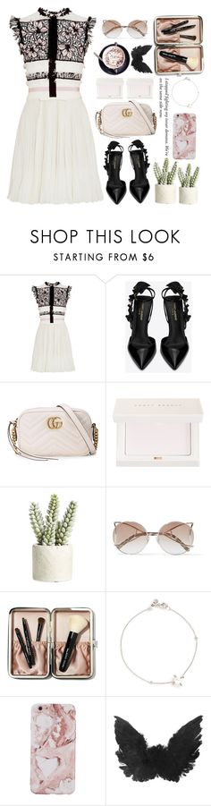 """I'm still loving you"" by ngocdinh ❤ liked on Polyvore featuring Giambattista Valli, Yves Saint Laurent, Gucci, Puma, Allstate Floral, Bobbi Brown Cosmetics and Astley Clarke"