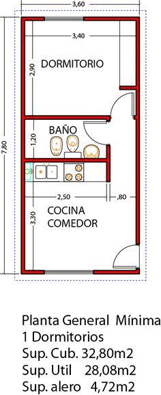 Vivienda de 1 dormitorio 32,80m2 ampliable a 3 dormitorios en un futuro - Viviendas Tríade