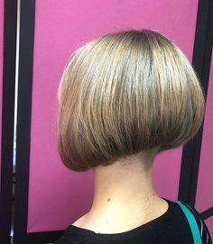 Short Stacked Bobs, Angled Bobs, Short Bobs, Inverted Bob, Stacked Bob Hairstyles, Bob Haircuts, Short Hairstyles, Shaved Bob, Shaved Nape