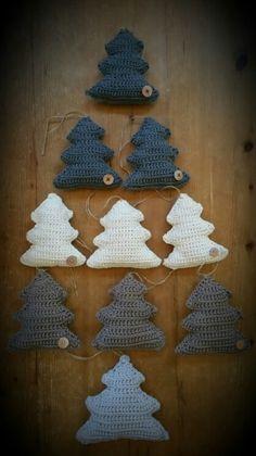 Kerstboom gehaakt, kerst, Christmas, haken