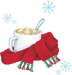 winter warm up... Gooseberry Patch original artwork