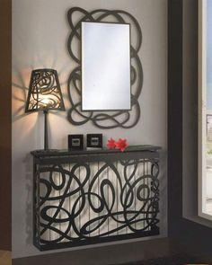 AD Interiors The Unique Interiors by Top Interior designers - Furniture Top Interior Designers, Luxury Interior, Metal Furniture, Furniture Design, Cnc Cutting Design, Radiator Cover, Deco Design, Radiators, Candle Sconces