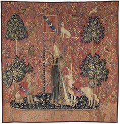 Le toucher, La Dame à la Licorne, tapisserie, 4e quart du XVe siècle, Paris, Musée de Cluny