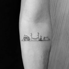 Simple-Tent-Tattoos.jpg 1,080×1,080 pixels #TattooIdeasSimple