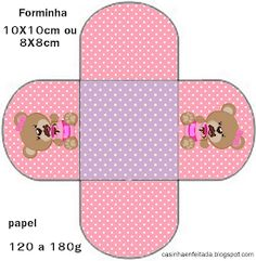 kit festa ursinha rosa grátis para imprimir Imprimibles Baby Shower, Raven Queen, Baby Shawer, Bear Party, Sticker Paper, Party Themes, Pattern Design, Teddy Bear, Scrapbook