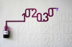 Inventive Paper Calendar Absorbs Ink Everyday for a Month
