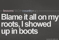 Lessons from country music...