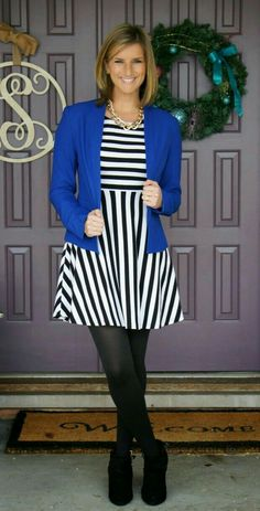 How adorable is all of this!  Love the blue blazer type jacket!