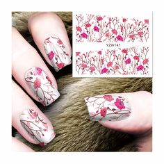 FWC New Fashion Lovely Sweet Water Transfer 3D Grey Cute Cat Nail Art Sticker Full Wraps Manicure Decal DIY 141 #Affiliate