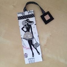"""Marque-pages N°18 """"la parisienne"""" glamour avec son ruban noir à pois blancs : Marque-pages par nymeria-creation"""