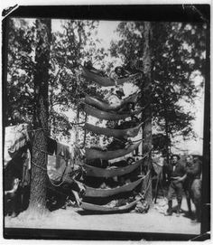 You thought this was a new fad? Circa 1899 hammocks on hammocks on hammocks