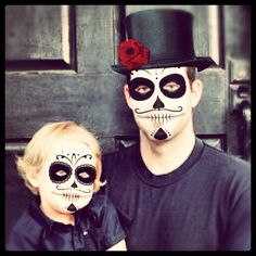 Face paint skeleton sugar skull boys full face