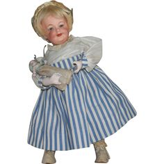 Gebruder Heubach 7609 Walking Doll with Baby