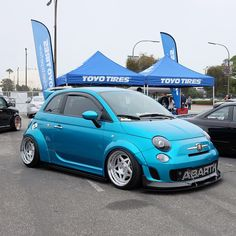 A stanced and fitted FIAT 500 Abarth... Love it! #canibeat #WFLA #wekfest  WEKFEST LA live coverage from The Queen Mary (Long Beach, Ca) on Canibeat via @canibeat_cristian