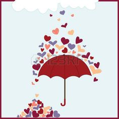 Rainy Cliparts, Stock Vector And Royalty Free Rainy Illustrations Royalty Free Music, Royalty Free Images, Umbrella Quotes, Music For You, Hearts, Stock Photos, Projects, Beautiful, Log Projects