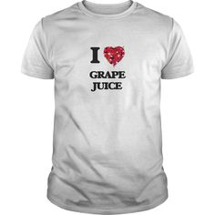 I Love Grape Juice food design - The perfect shirt to show your love for your favorite food.