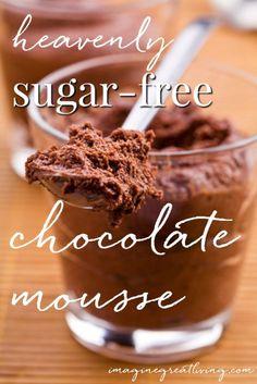 Heavenly sugar-free ricotta chocolate mousse