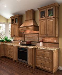Shenandoah Cabinetry, kitchen in Maple Mocha, McKinley door
