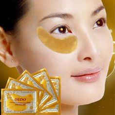 Women Gold Crystal Collagen Patches For The Eye Anti-Wrinkle Remove Black Eye Face Care Mask 2pcs Hot #Affiliate