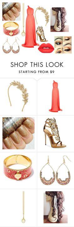 """Trinity Ball 3"" by ht-half-blood-princess ❤ liked on Polyvore featuring Jennifer Behr, Maria Lucia Hohan, Giuseppe Zanotti, Liberty, Gemma Simone, Prism Design and Lime Crime"
