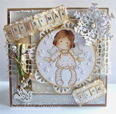 Magnolia Tilda OOAK Boxed Christmas Card by SUZI x   eBay