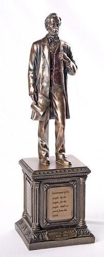 Abraham Lincoln US President on Pedestal Statue 13.5H
