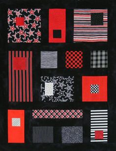 Team Colours pattern by Victoriana Quilt Designs.  Great guy quilt for a teen or college student.