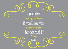 PLEASE don't ever do this to your potential bridesmaids! on the WED blog at: WEDtheMagazine.com