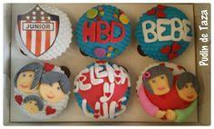 Caja de cupcakes por 6 unidades para celebrar cumpleaños.