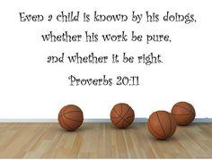 Proverbs 20:11 Bible Verse Wall Decal, Christian Bible Verse - Scripture Verse…