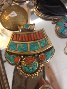 Tibetan jewelry is so incredible , traditional and beautiful all at once .  To buy online check out www.adorit.ca Tibetan Jewelry, Online Checks, Fabric Material, The Incredibles, Turquoise, Traditional, Boutique, Handmade, Stuff To Buy
