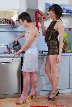 Femdom sissy house husband servant — 10