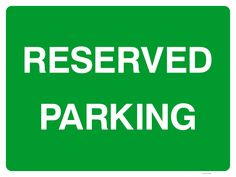 If you want to designate reserved parking spaces in your car park this sign is ideal. It's available in Rigid Plastic or hard-wearing composite aluminium that we'd recommend as the material of choice for outdoor signage. Reserved Parking Signs, Sign Solutions, Outdoor Signage, Car Parking, Britain, Plastic, Spaces, Exterior Signage