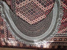 Lagniappe Shawl - free crescent shaped crochet shawl pattern by Esther Sandrof. 777m/850yds aran weight yarn, 5mm hook.