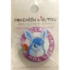 Pokemon Center 2012 Pokemon With You Glaceon Tin Can Badge