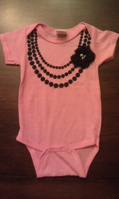 Baby Onsie by anelegantcreation on Etsy, $10.00...who has a little girl I have to get this for someone!!