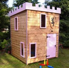 Castle Outdoor Playhouse for Your Kids : Outdoor Castle Playhouse ...
