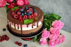 Tort Deliciu cu zmeura - Mihaela Toader Cake Decorating, Cheesecake, Deserts, Cooking Recipes, Ice Cream, Food, Cakes, Check, Design