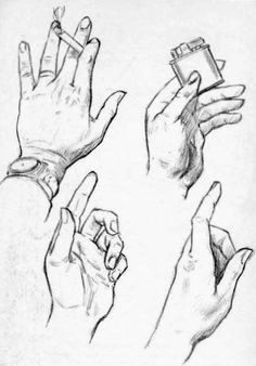 drawing your own hands for practice