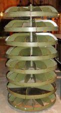 Vintage HARDWARE PARTS REVOLVING CAROUSEL BINS Cabinet Nut Bolt Stand  Storage