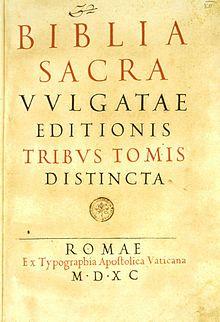 Vulgata – Wikipédia, a enciclopédia livre
