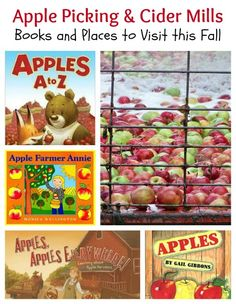 {Apple Activities for Fall} Great resources for apple-picking, visiting a cider mill, books about apples and fun activities!