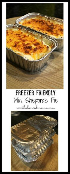 It's the perfect weekend to stock your fridge with these mini shepard's pie! Your family will love them and they are SO easy to make! (Easy Meal To Freeze Freezer Cooking) Make Ahead Freezer Meals, Freezer Cooking, Cooking Recipes, Individual Freezer Meals, Freezer Recipes, Freezer Desserts, Easy Freezable Meals, Meals To Freeze, Cooking Tips