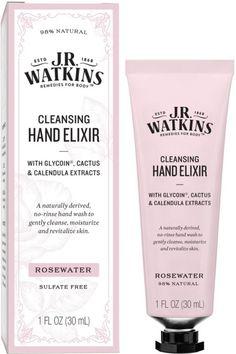 J.R. Watkins Cleansing Rosewater Hand Elixir | Ulta Beauty #FaceMolesBrownSpots Brown Spots On Hands, Liver Spots On Hands, Spots On Forehead, Fade Skin, Skin Moles, Lemon Drink, Dark Under Eye, Skin Spots, Skin Rash
