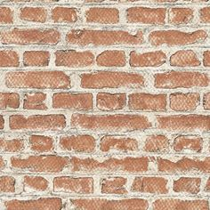 Brooklyn Brick (235203) - Albany Wallpapers - An all over wallpaper design featuring a red brick design. This wallpaper pattern matches perfectly to pattern number 235005. Please request a sample for a true colour match.