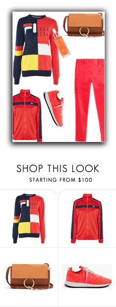 """""""Sporty Chic"""" by peeweevaaz ❤ liked on Polyvore featuring Topshop, Chloé, New Balance, casual, outfit, fourthofjuly, polyvoreeditorial and polyvorefashion"""