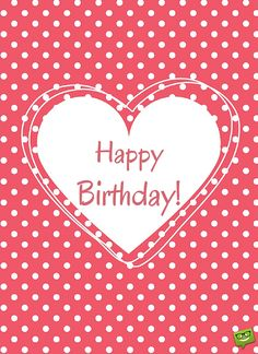 Happy birthday image for lover on polka dots background.