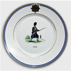 Royal Copenhagen Memorial plate, Uniforms of the Royal Life Guard 1848