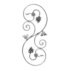 Scroll forged wrought iron panels by Indital feature stunning details   & exceptional work, including icons of classic luxury & opulence. Shop today!
