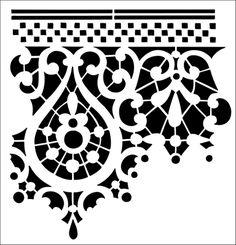 Border No 19 stencil from The Stencil Library OTTOMAN range. Buy stencils online. Stencil code OTT20.